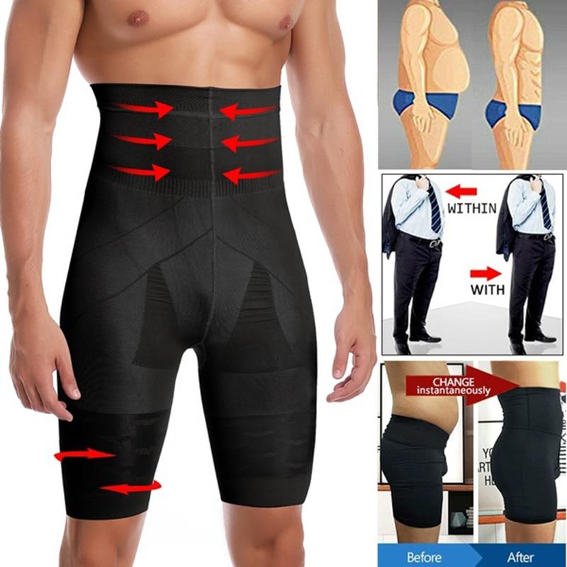 Calcinha de compressão para homens, modeladora do corpo, emagrecimento, lavagem alta, controle de compressão, roupa íntima masculina