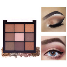 9Colors Eyeshadow Palette Matte Shimmer Nude Eye Cosmetics Waterproof Long Lasting Make up Glitter Pallet Powder Kit Waterproof