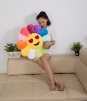 Large Size Sunflower Cushion Plush Toys Children Bed Office Couch Pillow Cushion Birthday Gift Girl'S