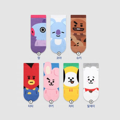Short Poly Cotton Socks  Kpop UIIzang Vjin Jimin Jungkook J-hope Suga Rm Socks Hope World Harajuku Love Yourself