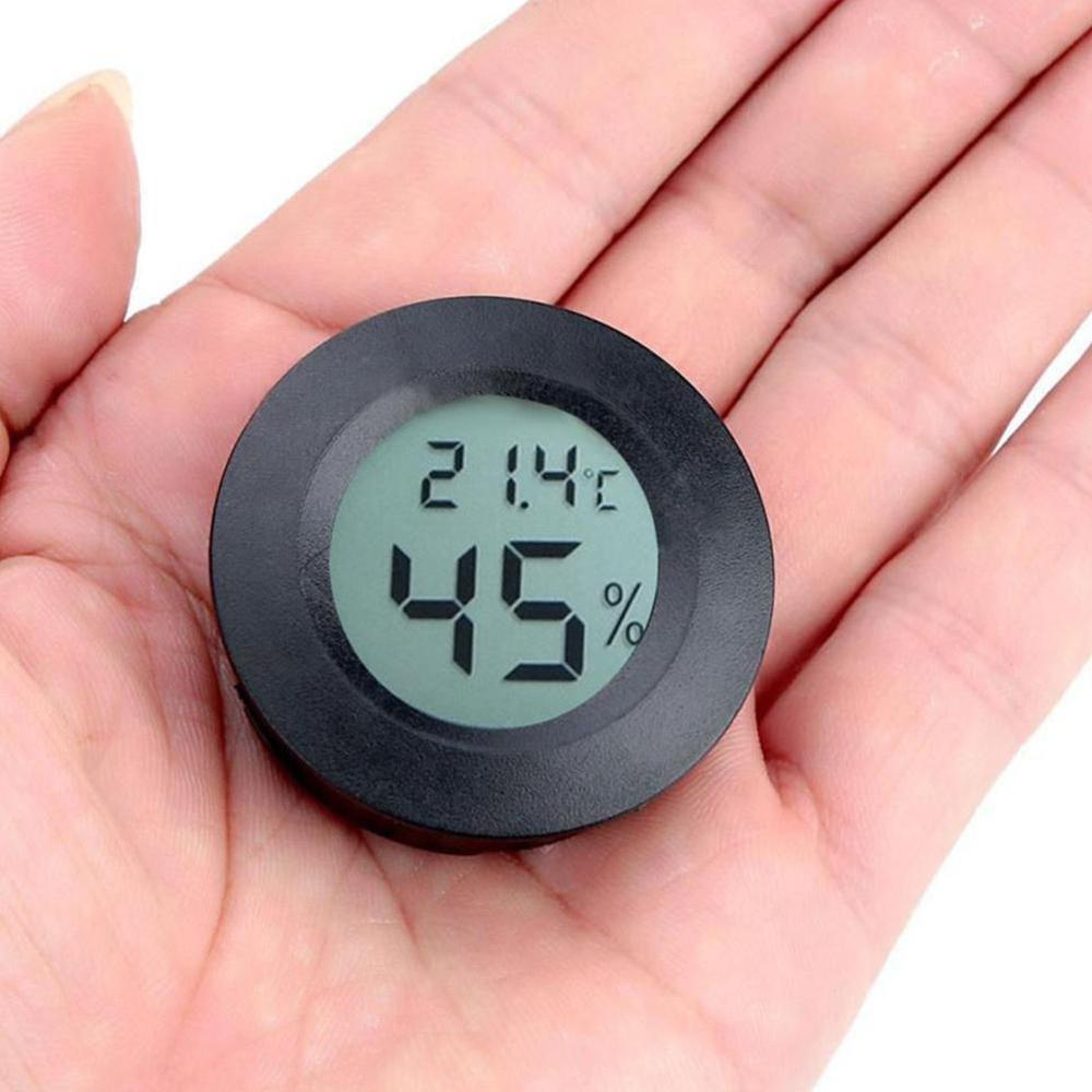 Mini LCD Thermometer Hygrometer Practical Digital Indoor LCD Hygrometer Round Display Temperature Humidity Thermometer Mete