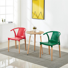 Modern Solid Wood Plastic Dining Chair Dining Room Nordic Home Bedroom Study Living Room Coffee Plastic Study Cafe Dining Chair