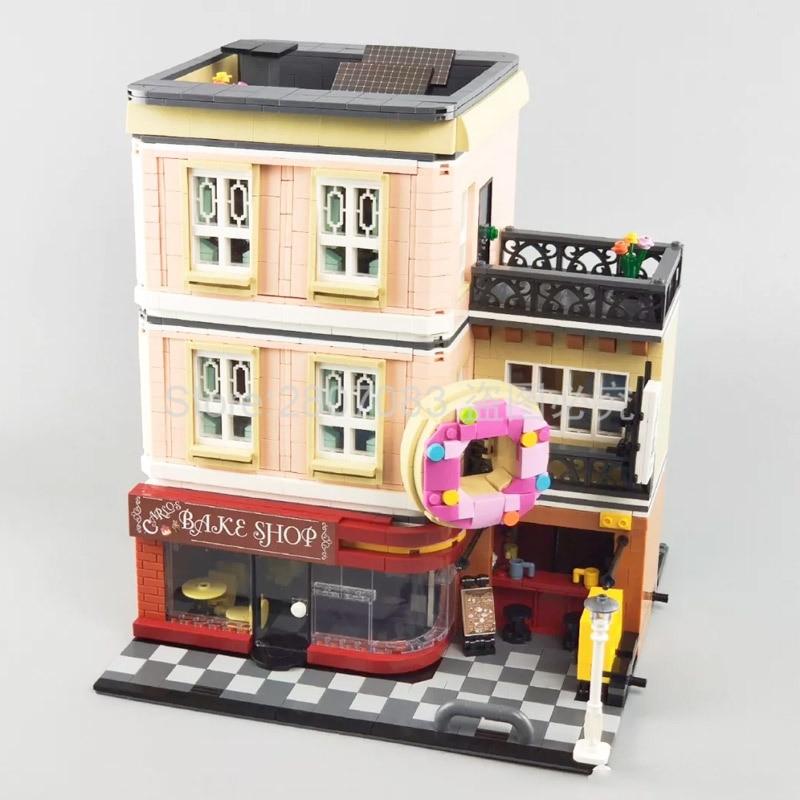 UG-10180 Creator Series Bake Shop Baking House Bakery Building Blocks Toys 2919pcs Bricks Set Compatible City