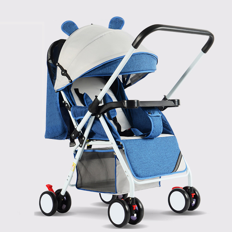 Portable Baby Stroller Folding Baby Carriage Ultra Lightweight and Convenient Can Sit Lie Baby Simple Child Mini Four Wheel Cart
