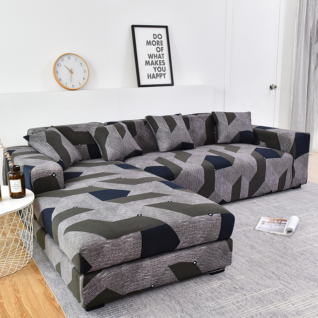 Please Order Sofa Set (2piece) If is L shaped Corner Chaise Longue Sofa Elastic Couch Cover Stretch Sofa Covers for Living Room