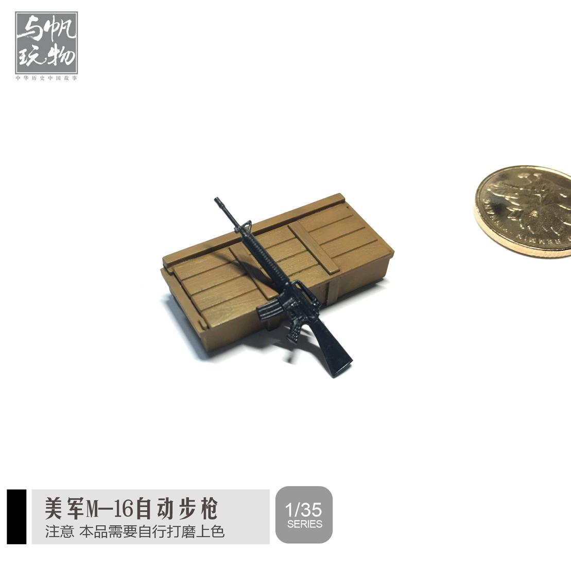 1:35 Resin US Army M-16 Model Gun Weapon Model Colorless 2-3CM