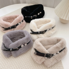 Belt Plush-Scarf Neck-Protection Winter Warm Fashion Autumn Women Cool American-Style