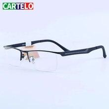 Очки cartelo оптические очки полуободковая оправа для искусственных