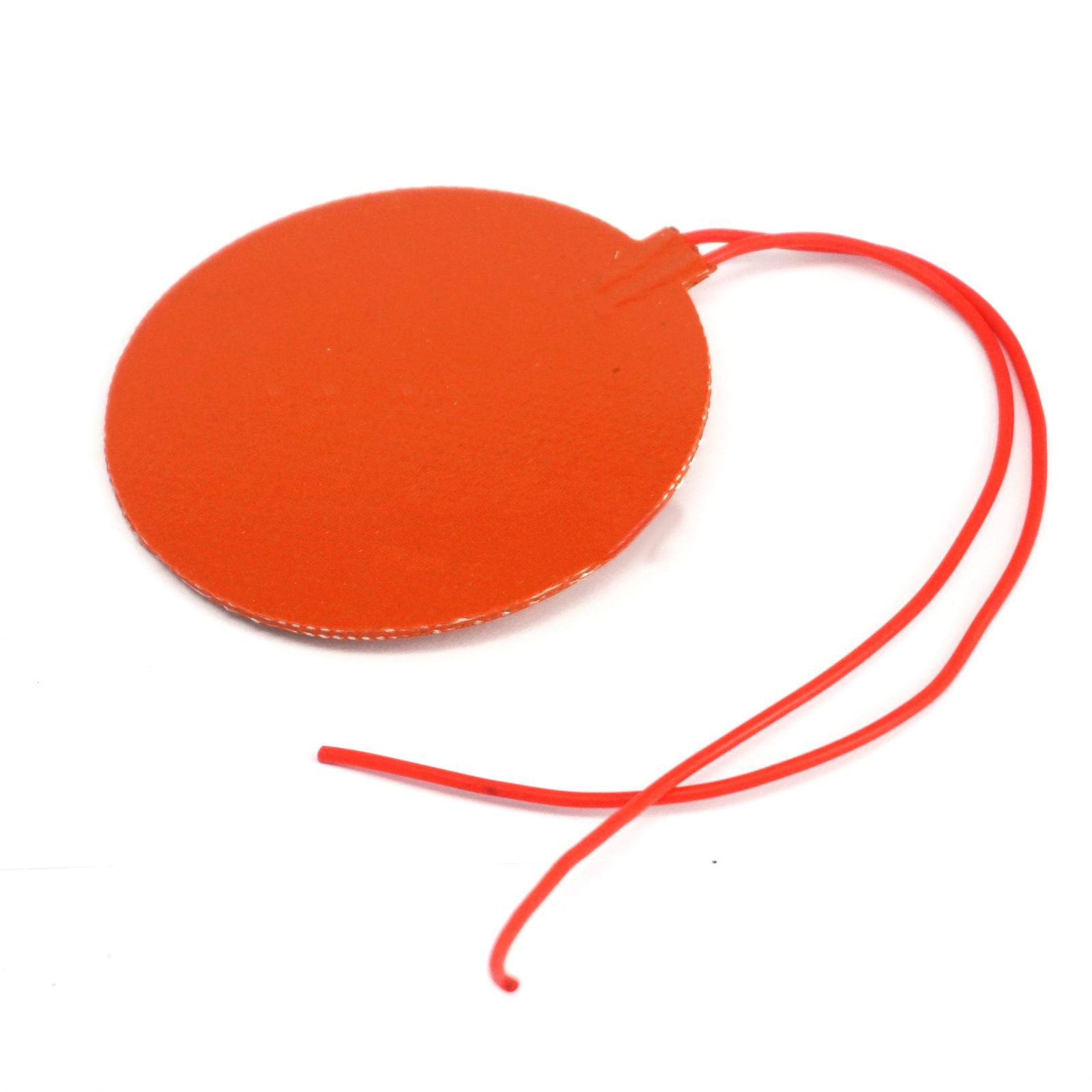 Waterproof Heating Pad Heated Round For 3D Printer 12V DC 15W Flexible Silicone Rubber Heater 80mm Sale
