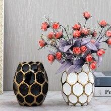 Легкая Роскошная ваза современная гостиная домашний креативный Декор гидропонная свежая ваза для гербарий