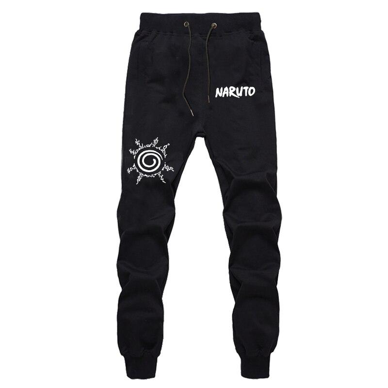 Autumn Men's Harajuku Sweatpants Naruto Printing Long Pants Fashion Joggers Workout Trousers Cotton Pants For Teenager Boys