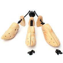 1 sztuk trwałe buty drzewo drewno buty nosze drewniane regulowane mężczyzna kobiet mieszkania pompy Boot Shaper Rack Expander drzewa rozmiar S M L tanie tanio BSAID Shoe Tree Drewna