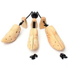 Alongador de sapatos de madeira para árvore de sapato, 1 peça molde de madeira ajustável unissex, forma de árvores baixas tamanho p/m/g