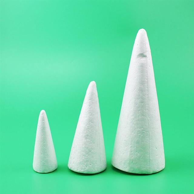 Wit Solid Foam Diy Cone Kinderen Handgemaakte Craft Kegel Accessoires Voor Thuis Craft Kerst