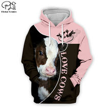 """Люблю коров забавные животные 3d всей одежды в стиле """"унисекс"""""""
