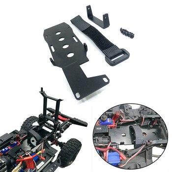 Bandeja de batería baja LCG soporte de batería de chasis de montaje DIY para 1/10 Traxxas TRX4 Defender coche trepador de control remoto piezas accesorios