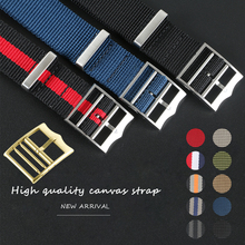 Sports Military Nylon Nato Zulu Parachute Watchband Watch Strap for Black Bay 22mm 21mm Bracelet Accessories French Troops