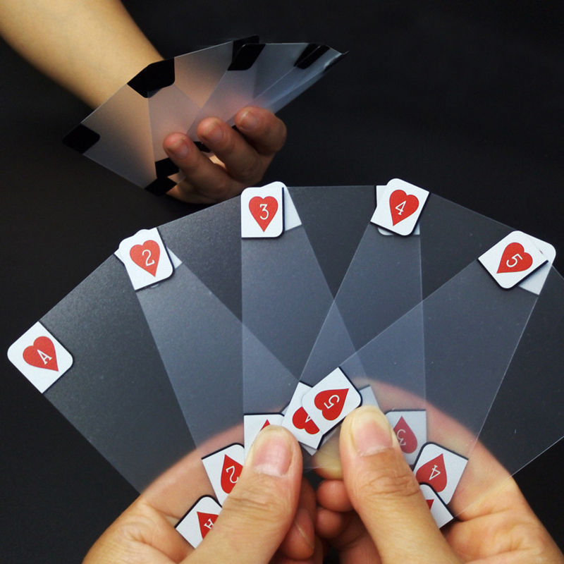 Creative Transparent Plastic Waterproof Poker Novelty Poker Index Playing Cards