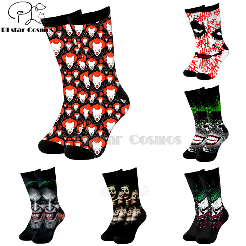 Plstar Cosmos Comic Dc Haha Joker Evil Villain Cotton Socks Cartoon 3d Print Socks High Sock Men Women Quality Joaquin Phoenix-5