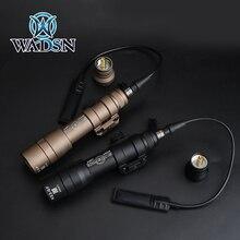 WADSN Airsoft 손전등 M600DF 듀얼 연료 LED 스카우트 라이트 1400 루멘 전술 횃불 MILSTD 1913 레일 무기 조명