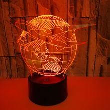 10pcs LED 3D Lamp 7 Color Changing Fish 3D Lamp LED Table Lamp Novelty Lighting Best Gift cheap doxa Night Light Figure 11401 Night Lights LED Bulbs Touch Dry Battery Holiday 0-5W ROHS Small night light toilet lamp bedroom light