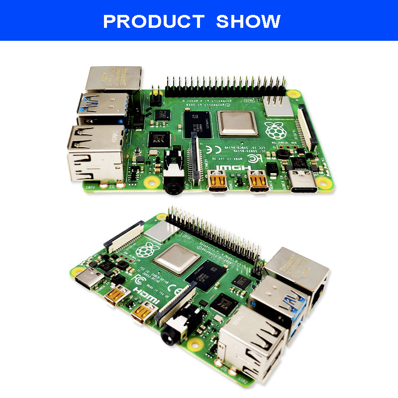 Image 3 - Original Raspberry Pi 4 Model B 4B with RAM 4GB 1.5GHz 2.4 / 5.0 GHz WIFI Bluetooth 5.0 Case Cooling Heatsink Power Supply 2019-in Demo Board from Computer & Office