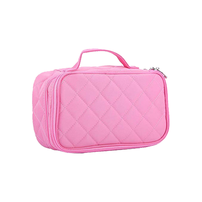 Beautician Necessary Double Layer Cosmetic Bag Box Women Beauty Vanity Make Up Tools Organizer Case Travel Toiletry Wash Storage