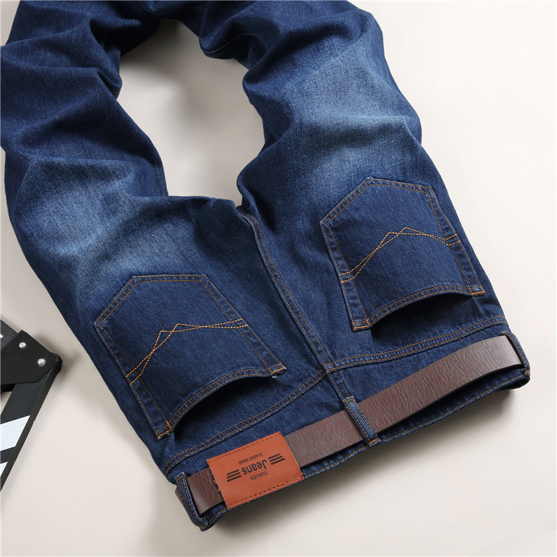 Autumn And Winter Large Size MEN'S Jeans Youth Men's Korean-style Straight-Cut Jeans Stall Men'S Wear