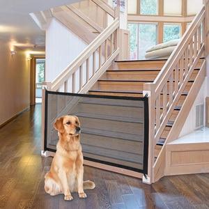 Mesh Dog Gate Folding Breathable Mesh Dog Fence For Indoor and Outdoor Pet Dog gate Safety Enclosure dog baby gates(China)