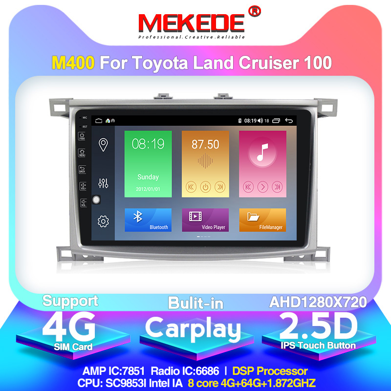 MEKEDE Android10.0 DSP IPS Car Audio <font><b>gps</b></font> navigator for Toyota Land cruiser <font><b>100</b></font> LC100 LC <font><b>100</b></font> autoradio wifi 4G RAM 64G ROM image
