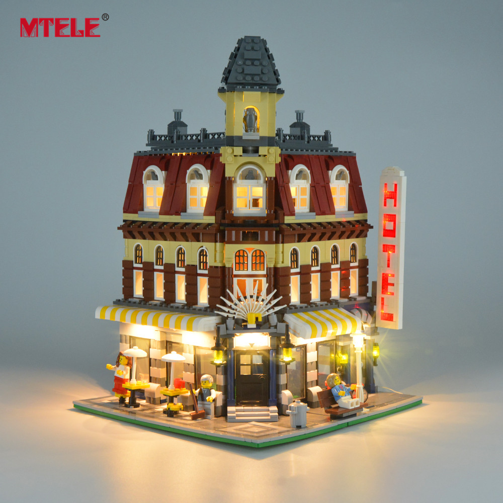 MTELE Brand LED Light Up Kit For Creator 10182 Cafe Corner Lighting Set Compatible With Model 15002 (Not Include The Model)|compatible with lego|lego kit|block light - title=