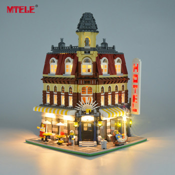 MTELE Brand LED Light Up Kit For Creator 10182 Cafe Corner Lighting Set Compatible With Model 15002 (Not Include The Model) lightaling led light set for famous brand 10182 15002 make