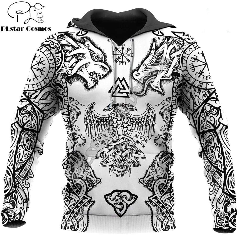 Beautiful Vikings Tattoo 3D Printed Hoodie Harajuku Fashion Sweatshirt Unisex Casual Jacket Pullover sudadera hombre DW093