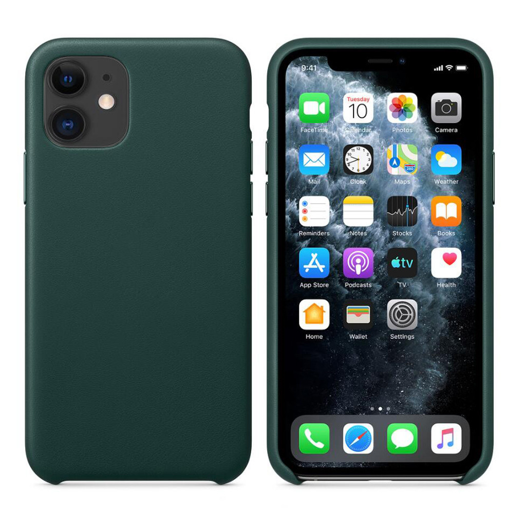 Ultra-Thin Leather Case Cover Skin Protective Shell for Iphone 11 Pro Max Pine Green Phone Case for IPhone 11 Pro Max