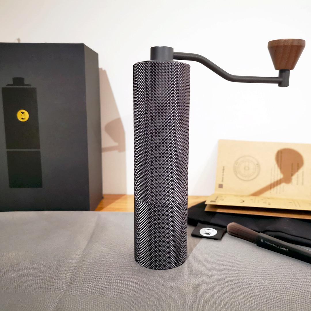 Timemore スリムコーヒーグラインダー調整可能な設定でミニマリズム円錐バリ手動ミルスリムグラインダー手ドリップエスプレッソ