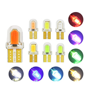 10pcs T10 LED W5W 168 194 COB Car Light Silicone Crystal Wedge Clearance Light Reading Lamp License Plate Light Car Accessories