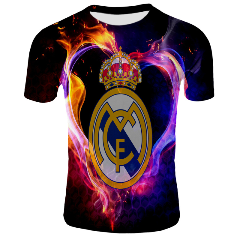 2019 Champions Men Tops Tees T Shirts Casual Fashion 12 Champions Real Madrid Goal Gol League Cup T Shirt