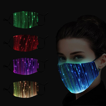 LED Mouth Mask Reusable 7 Colors Changeable Luminous Face Mask With USB Party Dance Masks for Adult Washable Mascarillas Masque image