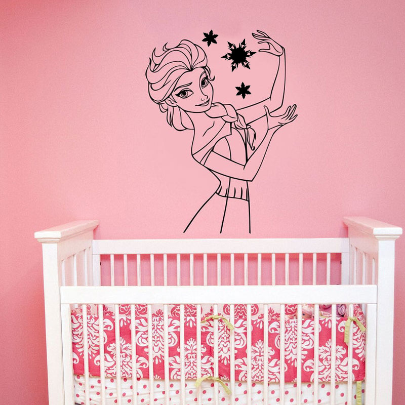 Princess Carriage Home Room Decor Removable Wall Stickers Decal Decoration