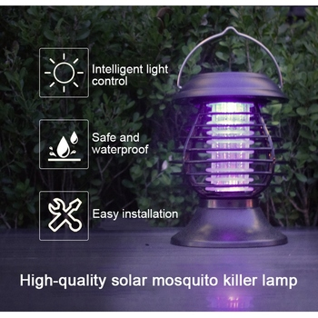 New Solar Mosquito Killer Lamp Outdoor Pest Fly Bug Insect Zapper Trap Lamp Hanging Electric Mosquito Killer Lamp Tent Light ultrasonic facial massager skin rejuvenation ionic facial cleanser light therapy face lift anti wrinkle beauty device