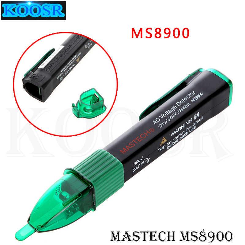 MASTECH MS8900 비접촉 AC 전압 검출기 테스터 100-240V 센서 펜 사운드 및 라이트 알람