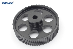 Image 2 - POWGE VORON DESIGN 80 Teeth 2MGT 2GT Timing Pulley Bore 5mm for GT2 2M Open Synchronous belt width 9/10mm 80Teeth 80T 3D printer