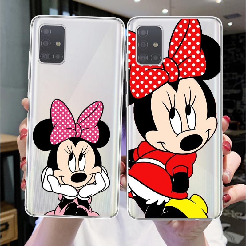 Cartoon Cute Minnie Mouse Soft Phone Case For Huaweis P40 Lite P10 Lite P20 Pro P30lite P30 Mate 10 Lite Mate 20Pro