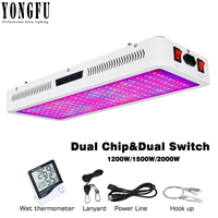 LED Grow Light Full Spectrum1200W 1500W 2000W Dual Chip and Dual Switch phytolamp with UV&IR Grow Led for Indoor Plant VEG&BLOOM
