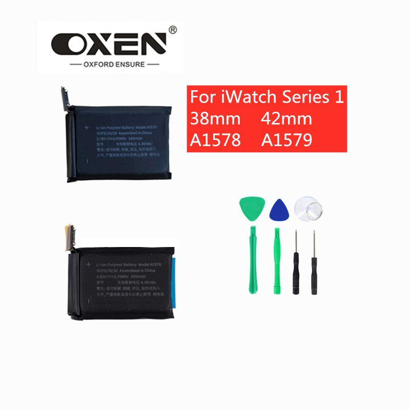 OXEN For IWatch Series 1 Smart Watch Battery Replacement 38mm 42mm For Apple Watches A1578 A1579 Lithium Polymer Batteries