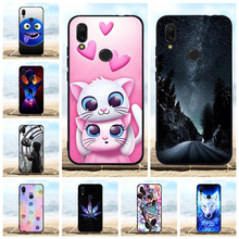 For Xiaomi Redmi 7 Cover Ultra Slim Soft TPU Silicone Case Flowers Patterned Shell Coque