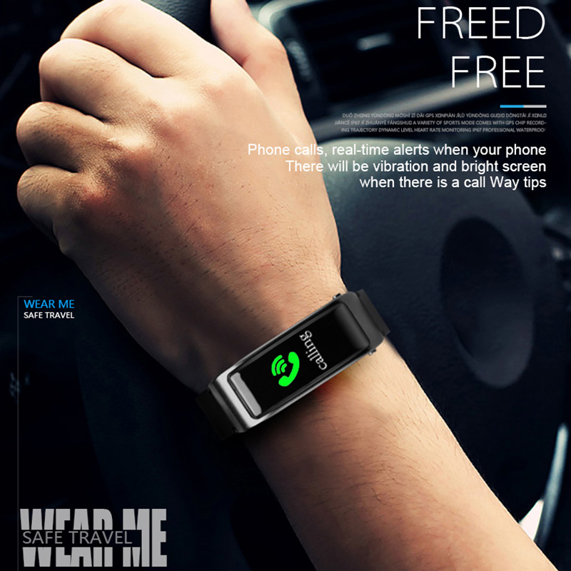 New 2 In 1 Smart Bracelet with Bluetooth Earphone Heart Rate Monitor Sports Watch ING-SHIPPING