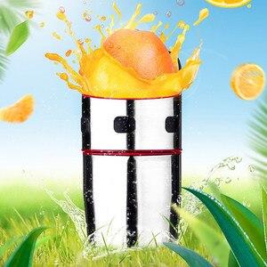 Image 2 - 강력한 스테인레스 스틸 오렌지 Juicer 휴대용 수동 뚜껑 회전 감귤류 Juicer 레몬 오렌지 귤 주스 압착기