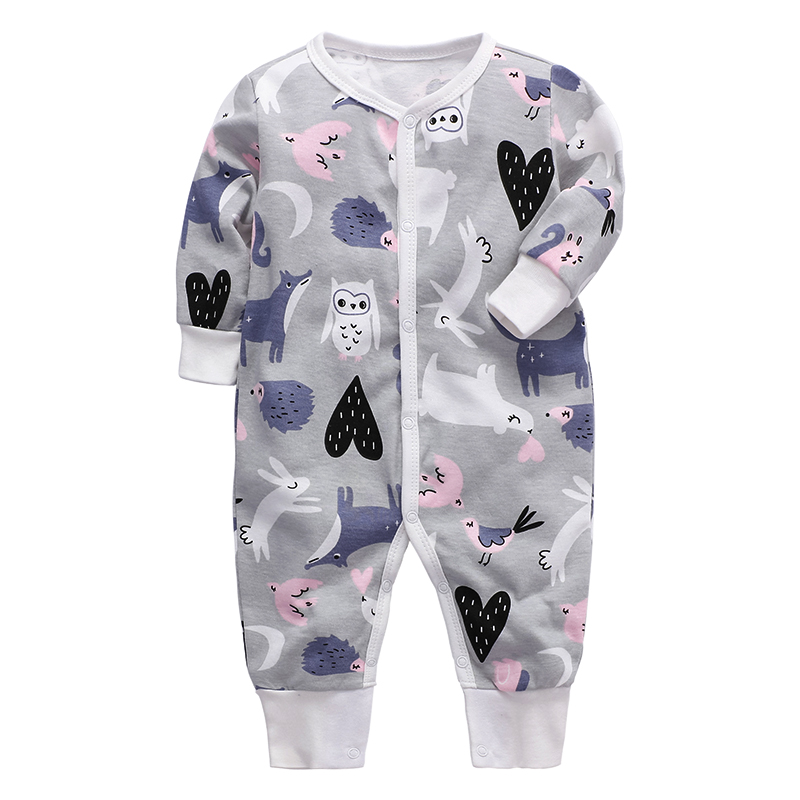 Baby Girls Clothing Newborn Infant Jumpsuit 3 6 9 12 18 24 Months Sleeper Pajama 100% Cotton Babies Toddler Child Boys Clothes