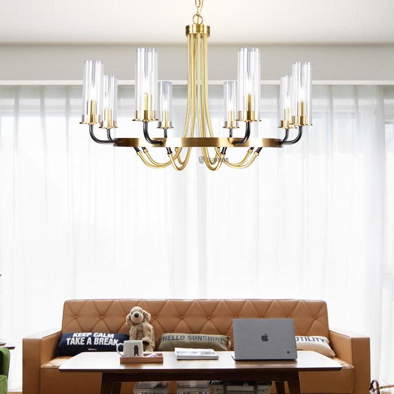 Image 3 - Postmodern luxury LED Iron art chandelier Nordic glass living room lighting bedroom fixture dining room villa hanging lightsChandeliers   -